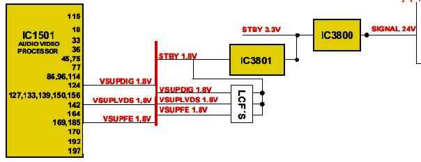Hình 40 - Nguồn 1.8V cấp cho IC xử lý tín hiệu Video và Audio