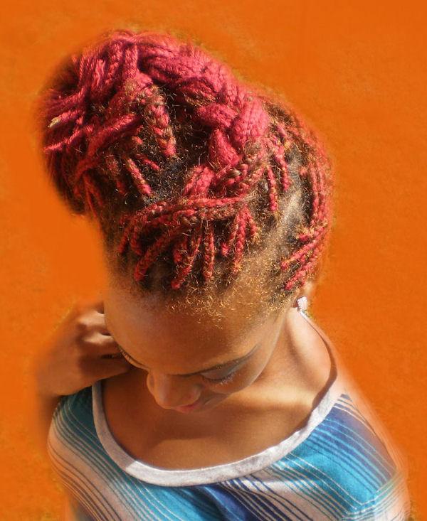 trenzas africanas en pelo rosa 2013