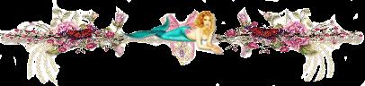 fancy floral mermaid texti divider