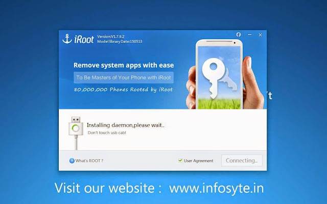 Install iRoot in your computer and enable USB debugging