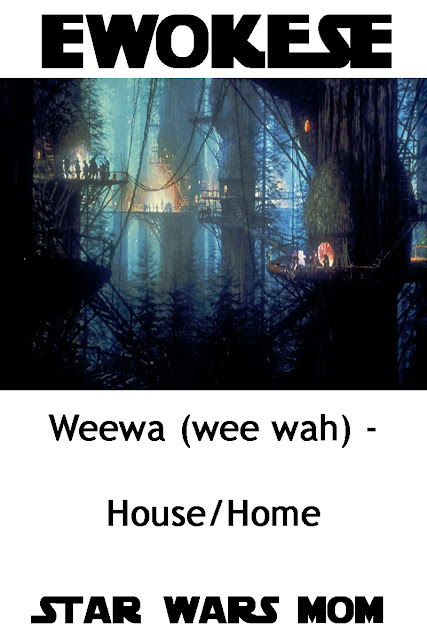 Star Wars Speaking Ewok Flashcard Home