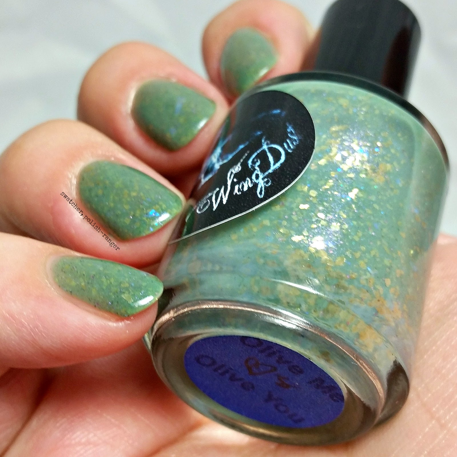 WingDust Collections Olive Me <3s Olive You swatch | swatcher, polish-ranger