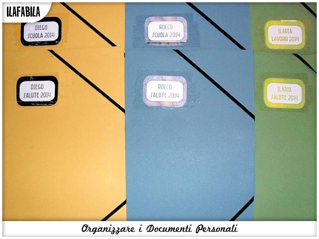 Organizzare i documenti Personali