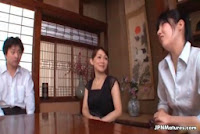 Horny Japanese mature mom loves kissing