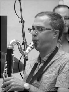 Geof Bradfield - bass clarinet - Beveled - 2015 Chicago Jazz Festival   Photograph by Tom Bowser