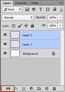 Photoshop CC شرح الربط بين الطبقات Link
