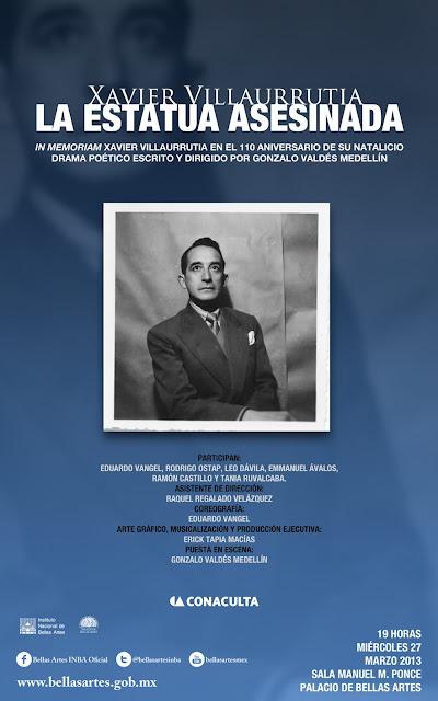 Celebran en el Palacio de Bellas Artes 110 años del natalicio de Xavier Villaurrutia