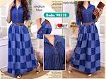 Baju Muslim Gamis Jeans Burberry MF245 HABIS