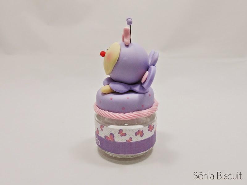 Lembrancinha Nascimento Biscuit Potinho Borboleta