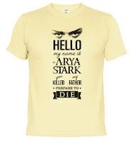 camiseta chico arya stark - Juego de Tronos en los siete reinos