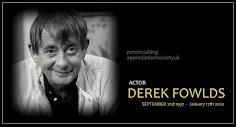 ACTOR DEREK FOWLDS DIES AGED 82