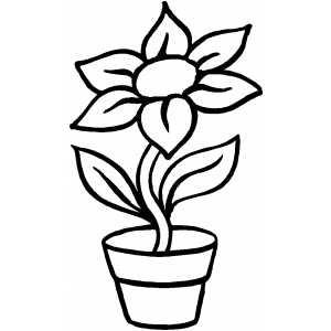 Jocuri pentru copii mari şi mici: Planse simple de colorat cu flori