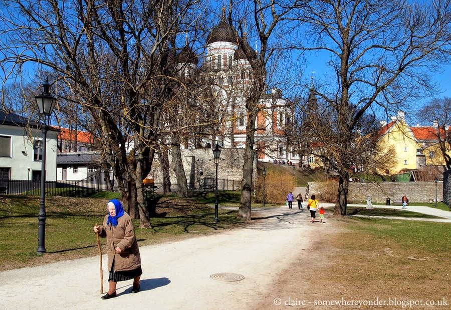 walkway up to Nevsky Cathedral, Tallinn