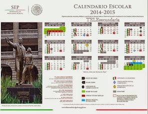 CALENDARIO PARA TELESECUNDARIA 2014-2015