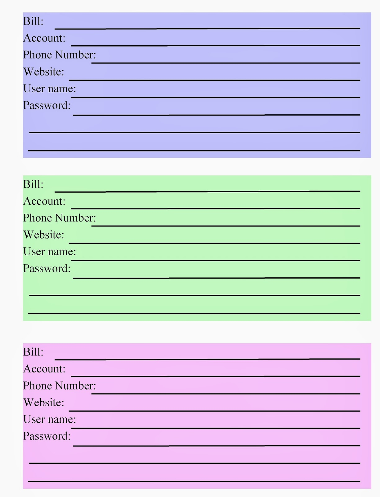 "Search Results for ""Free Printable Bill Organizer Spreadsheet ..."