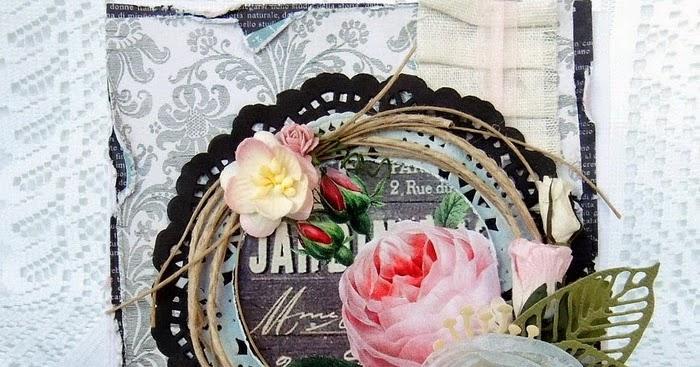 Carta Parati Classica Toile Elegance: Claralesfleurs Scrapbooking: Une Carte Shabby Melissa