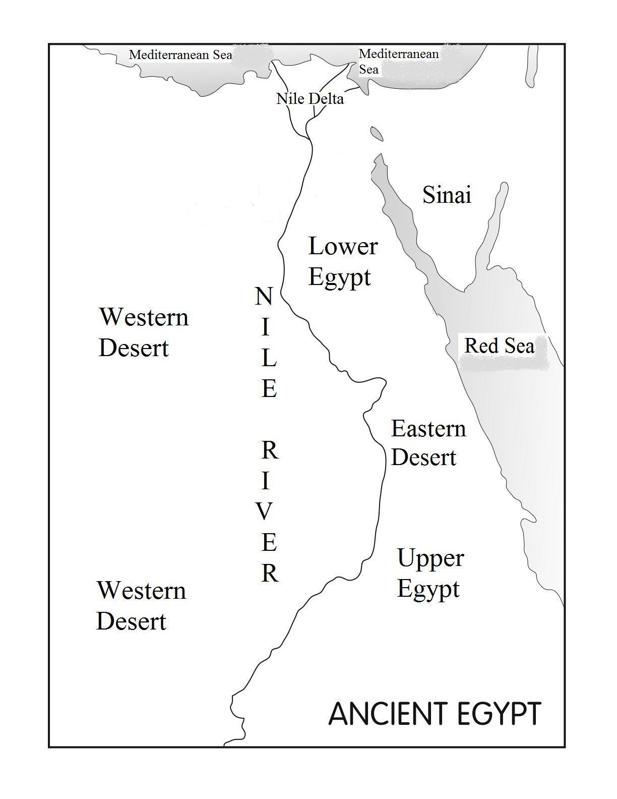 Blank Ancient Egypt Map - Map of egypt blank