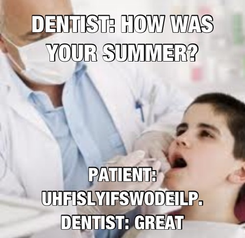 funny comic Conversation with the dentist