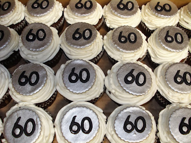Happy 60th Birthday Cupcakes