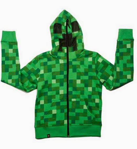 Minecraft Creeper Hoodie perfect gift for teens.