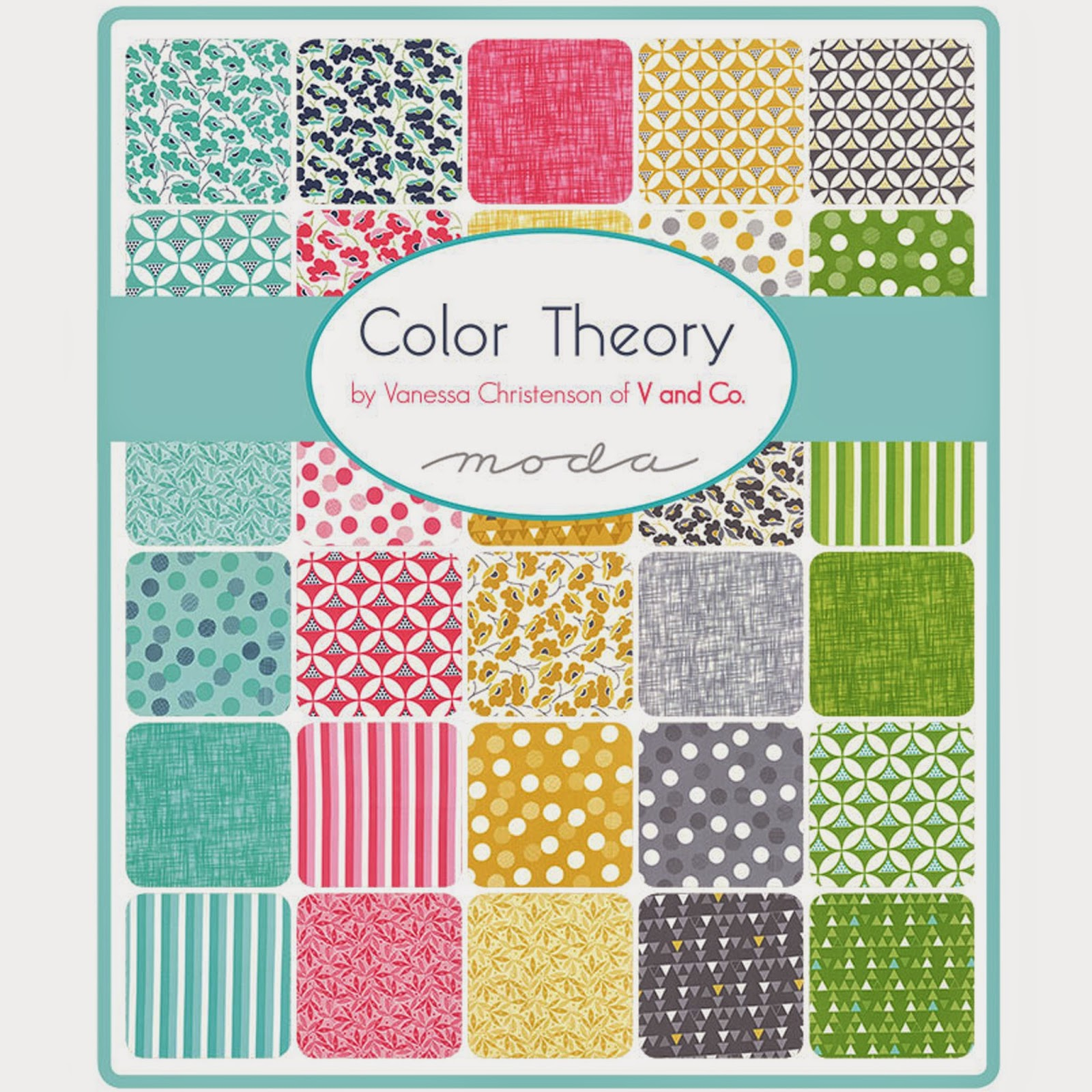 Moda COLOR THEORY Fabric by V and Co. for Moda Fabrics