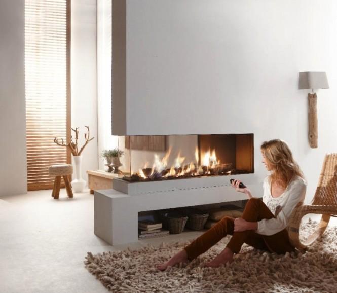 Hogares frescos fabulosas chimeneas minimalistas - Chimeneas de interior ...