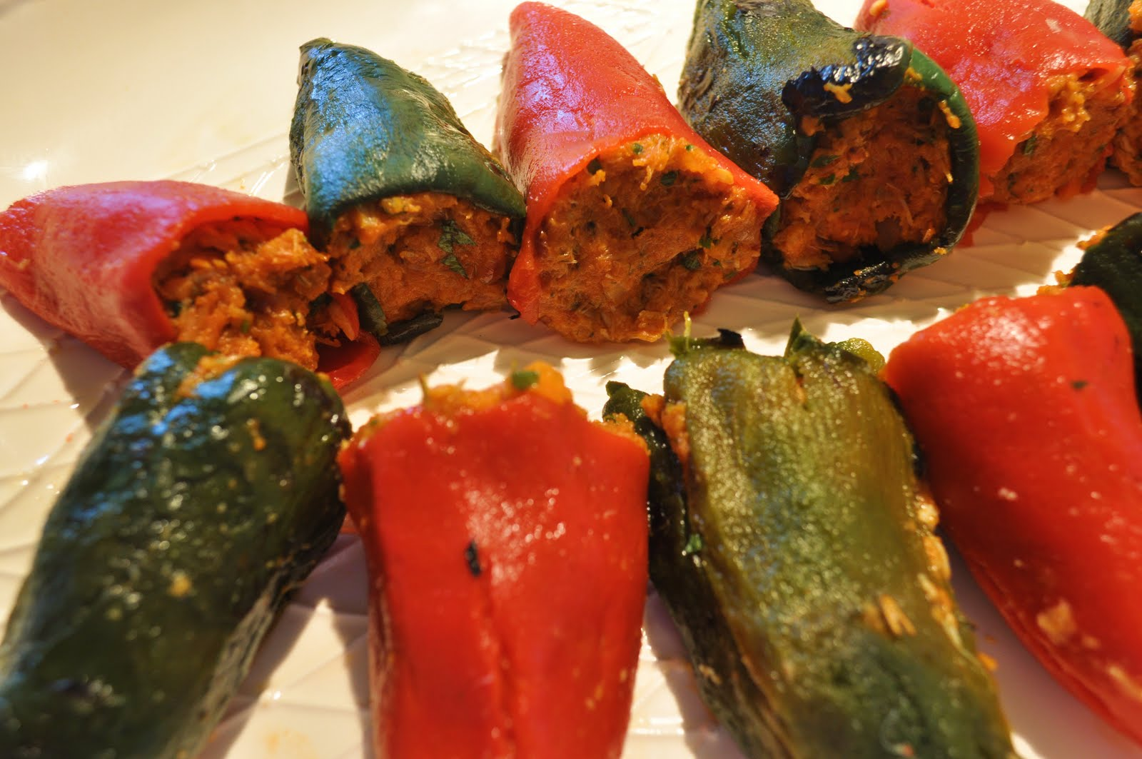 My Hawaiian Home: Basque Peppers stuffed with Crab