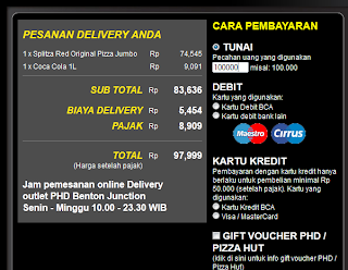 Checkout Pesanan Delivery PHD