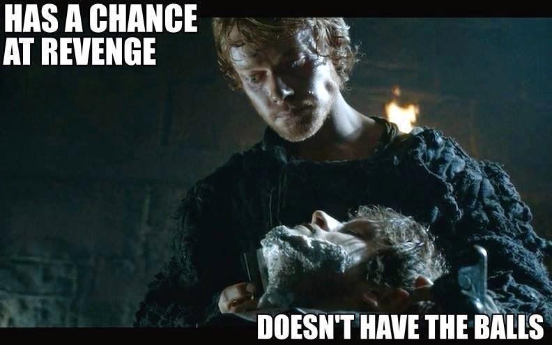 #GameOfThrones Why Didn't You Cut Him Reek (Theon) ? Meme