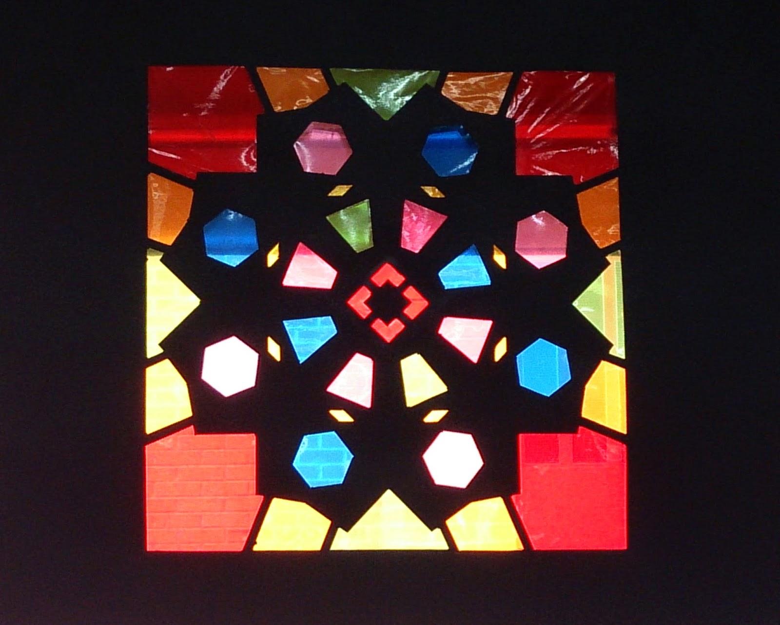 Vz arte dise ar una vidriera sobre cartulina negra a - Vidrieras de colores ...