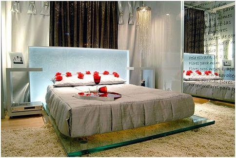 Romantic bedroom for those in love, for Valentine's Day