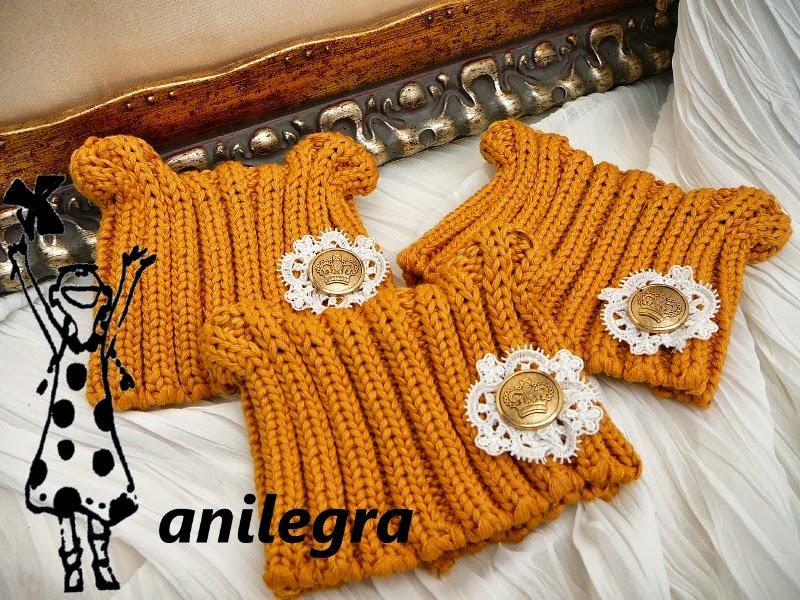 moda para muñecas: Hacer gorros de lana con tela de punto reciclado