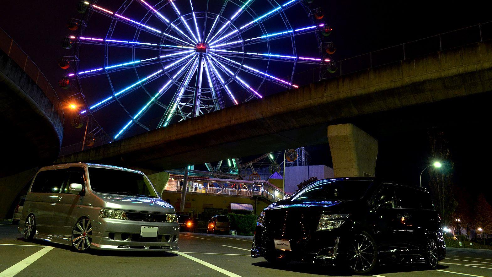 Nissan Highway Star, tuning vanów, Japonia, ciekawe, pasja, modyfikacje, noc