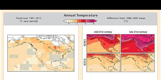North America warming hole