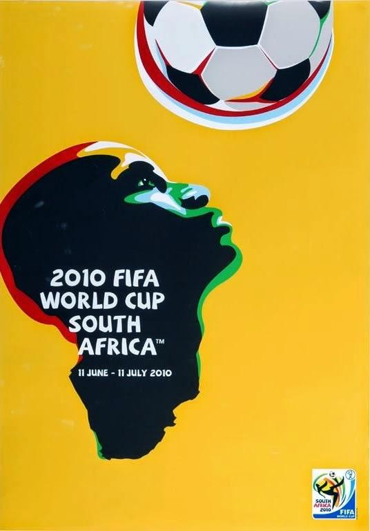 Cartaz oficial da Copa do Mundo realizada pela primeira vez no continente africano em 2010.