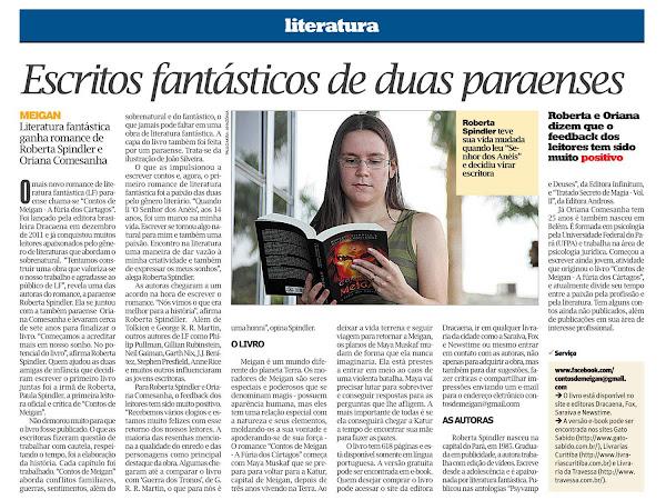 Roberta Spindler e Oriana Comesanha são destaque de publicação em Belém por Contos de Meigan