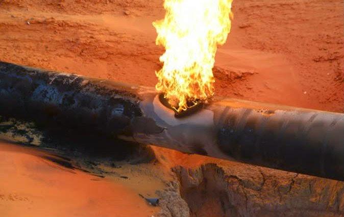 انفجار فى خط الغاز بالمجاورة 30 فى العاشر من رمضان