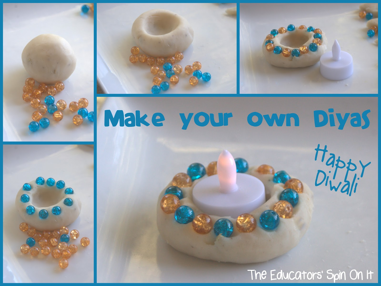 The educators 39 spin on it make your own diyas for diwali for Art and craft diya decoration