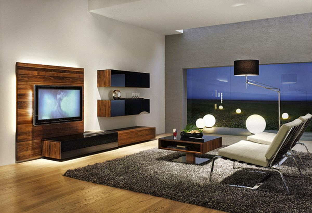 small living room with tv modern house