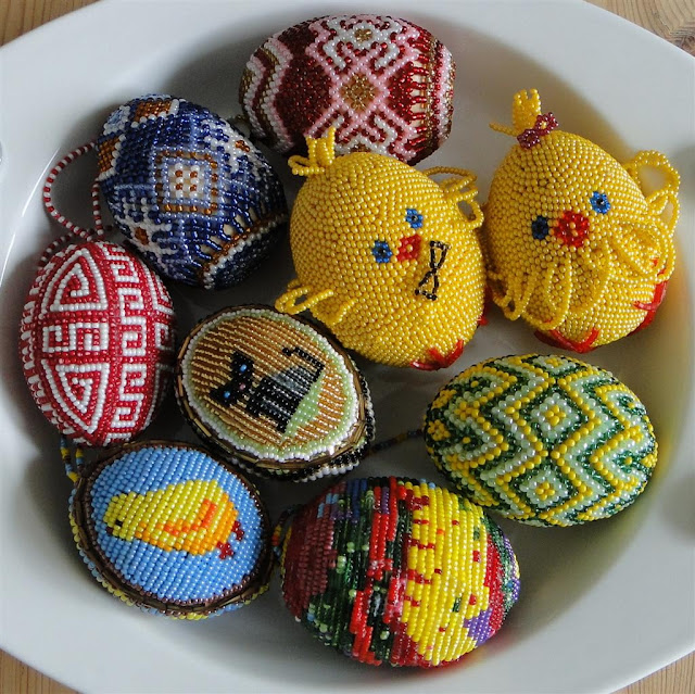 Beaded Easter Eggs from western Ukraine