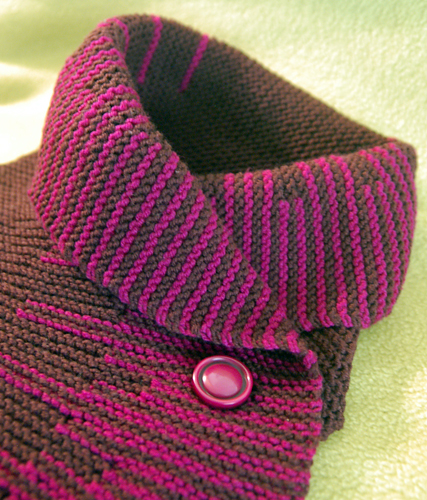 Knitting Stitches Short Rows : Linda Knits: Short Row Scarf