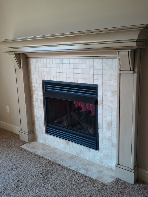 fireplace tile you can paint it the magic brush inc