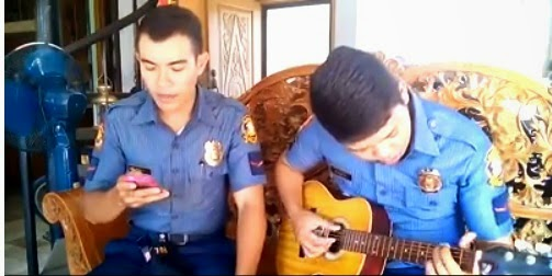 Policeman sings 'Thinking Out Loud'