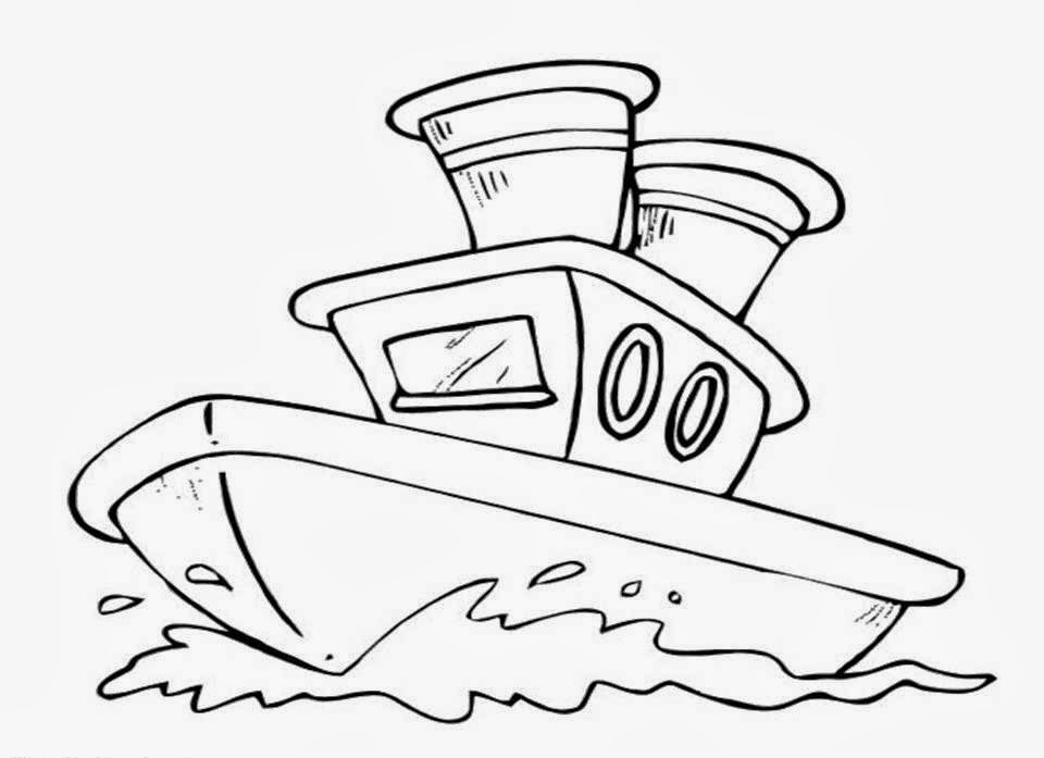 Ship Coloring Drawing Free wallpaper