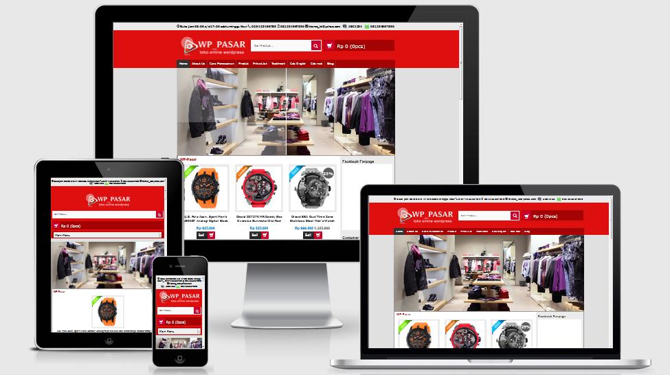 Template Toko Online WordPress Wp-Pasar