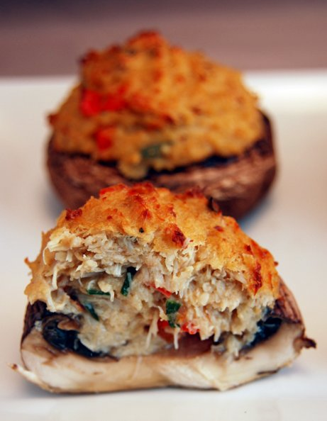 sadie + stella: S+S chow: crab stuffed mushrooms