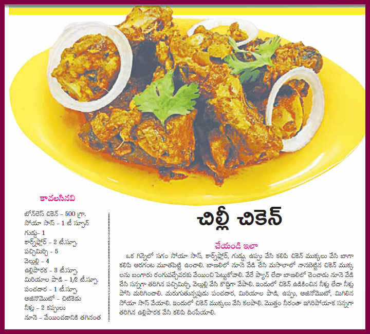 Telugu web world happy new year january 01 2013 special non veg happy new year january 01 2013 special non veg recipe chilli chicken tasty and enjoy new year forumfinder Image collections