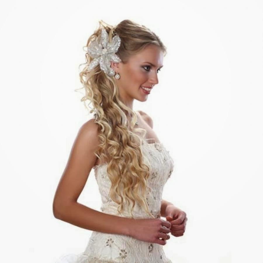 Свадебные варианты причёсок на длинные волосы. Фото №3