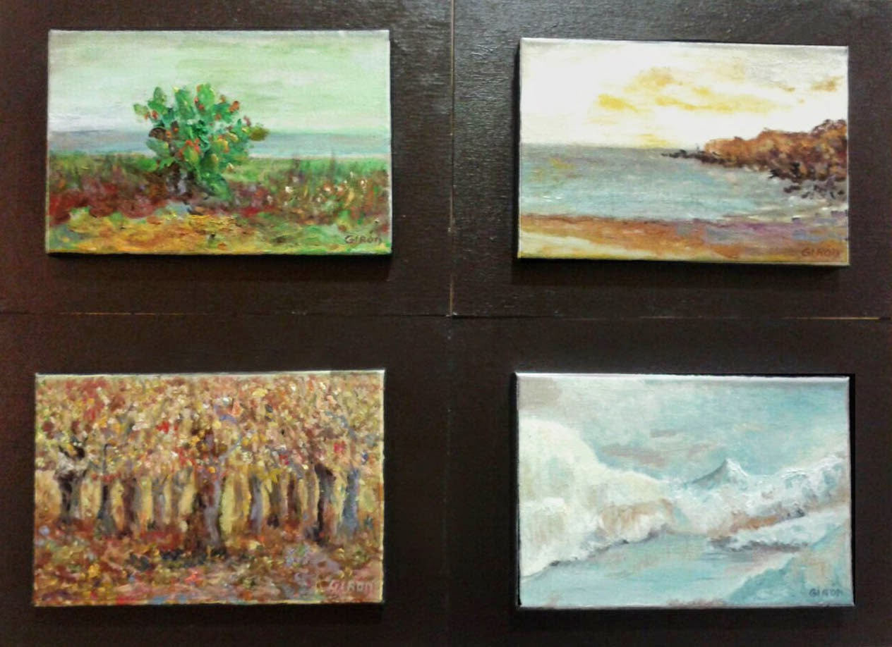 cuadros óleo primavera verano otoñó invierno pintor Girón.