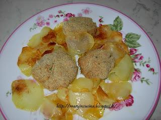 polpettine con mortadella con patatine croccanti